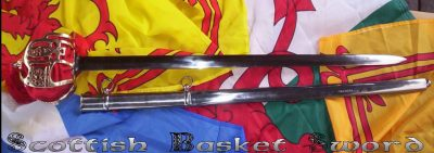 Brass Basket Steel Scabbard