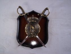 Napoleon Royal Crest Saber Wall Plaque