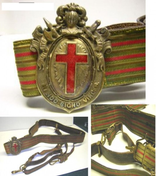 Knights Templars Belt and Buckle