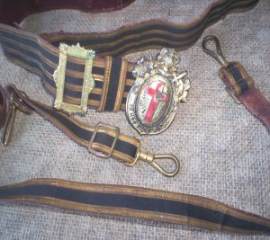 Vintage Masonic Sword Belt with Buckle