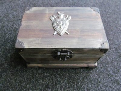 Medieval Wooden Jewellery Storage Box