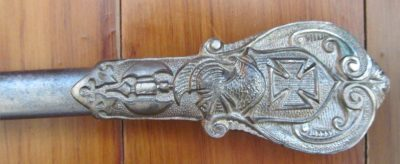 Antique Knights Templar Sword with Pin